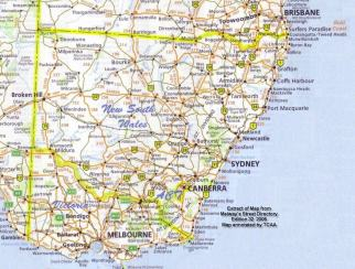 Map NSW